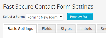 Fast Secure Contact Form forms