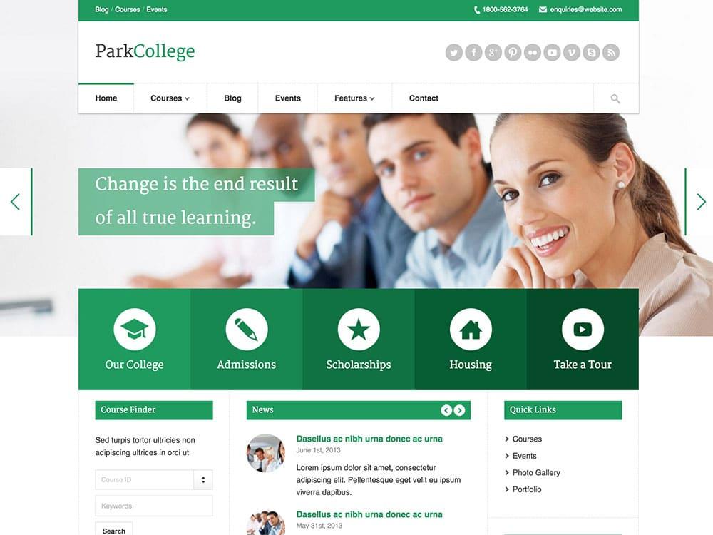 parkcollege-education-wordpress-theme