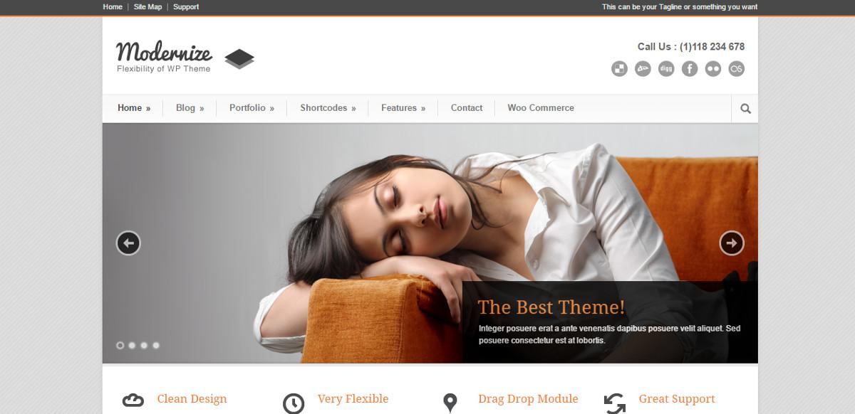Modernize WordPress Theme