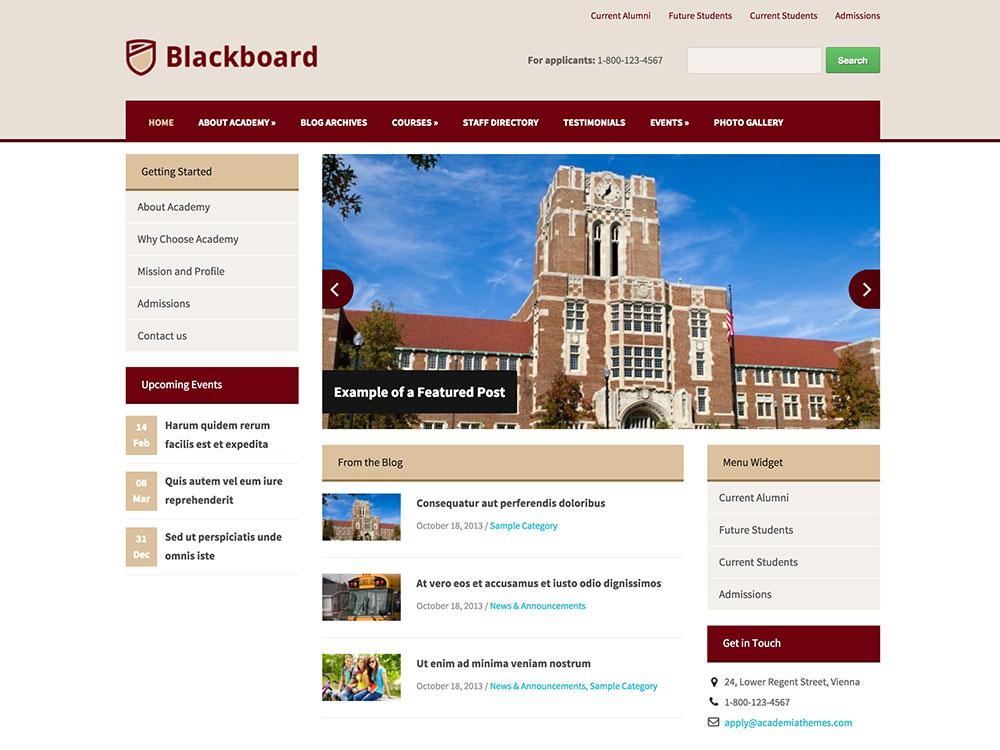 blackboard-wordpress-theme