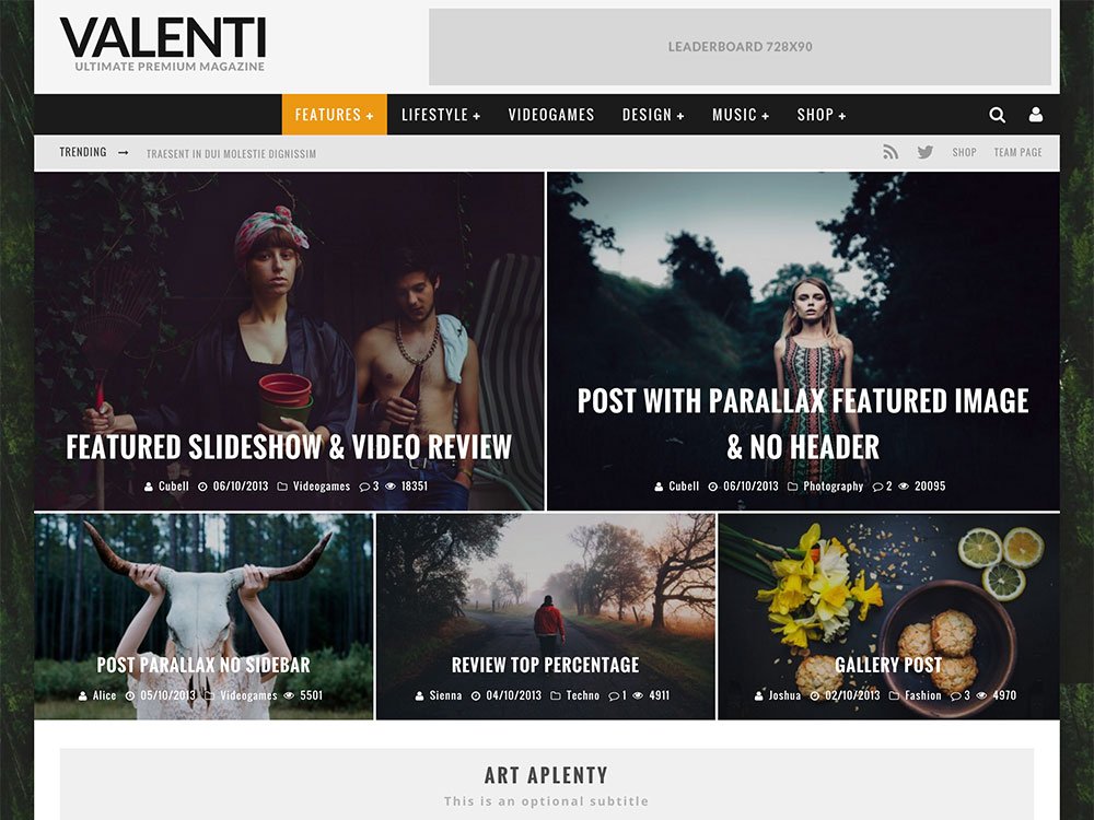 valenti-review-magazine-theme