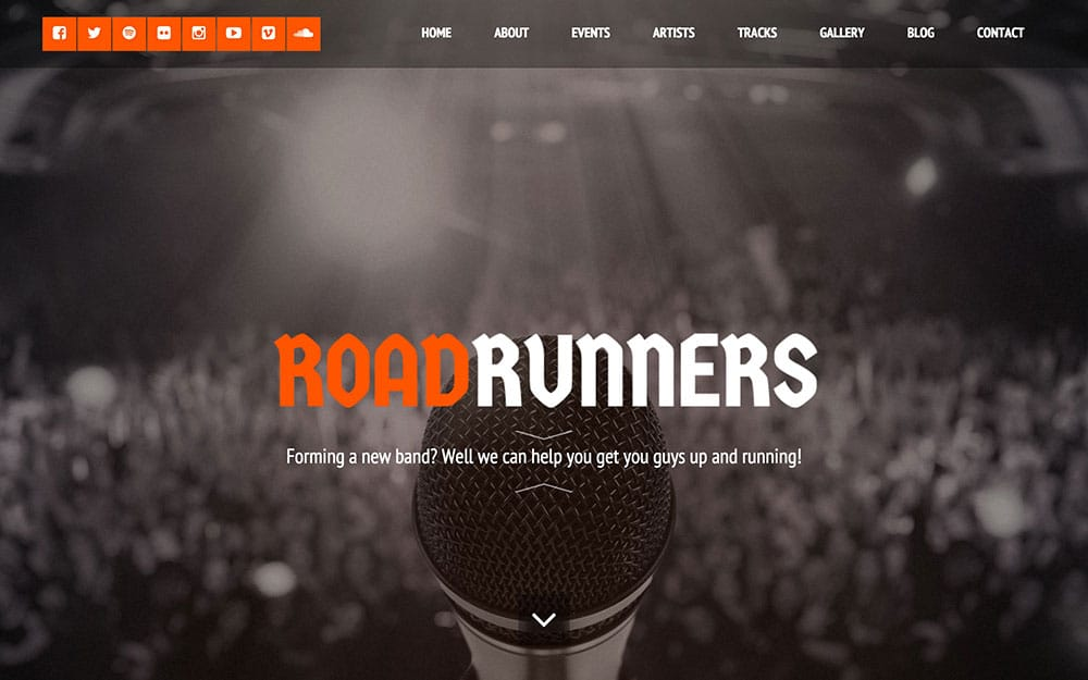 roadrunners-wordpress-music-theme