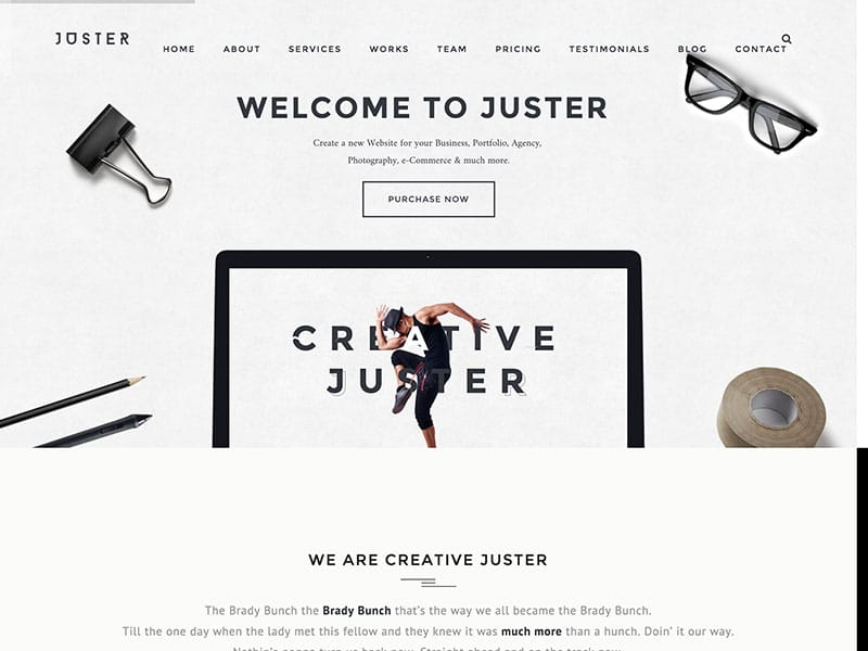 juster-minimal-one-page-theme
