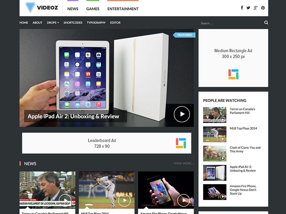 videoz-video-wordpress-theme