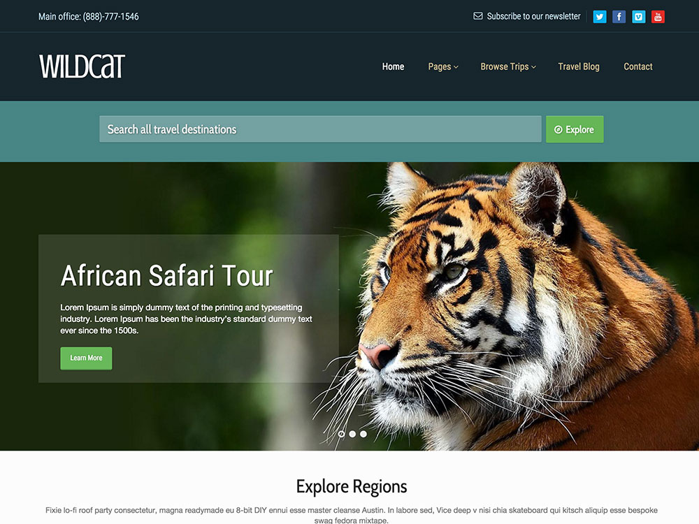 wildcat-travel-wordpress-theme