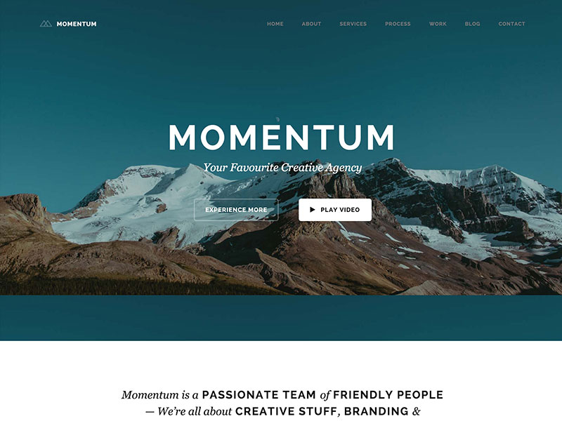 momentum-creative-one-page-theme