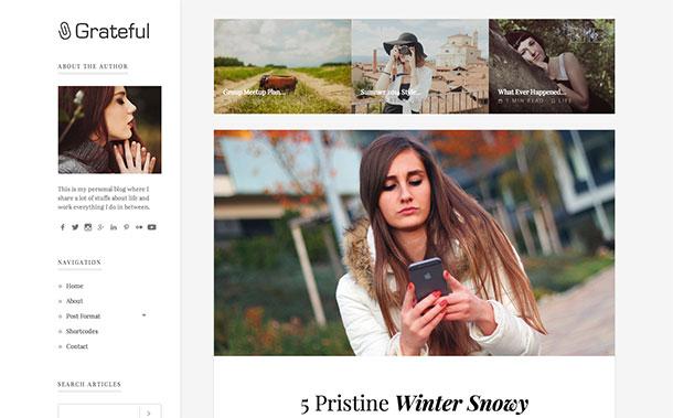Grateful-WordPress-theme