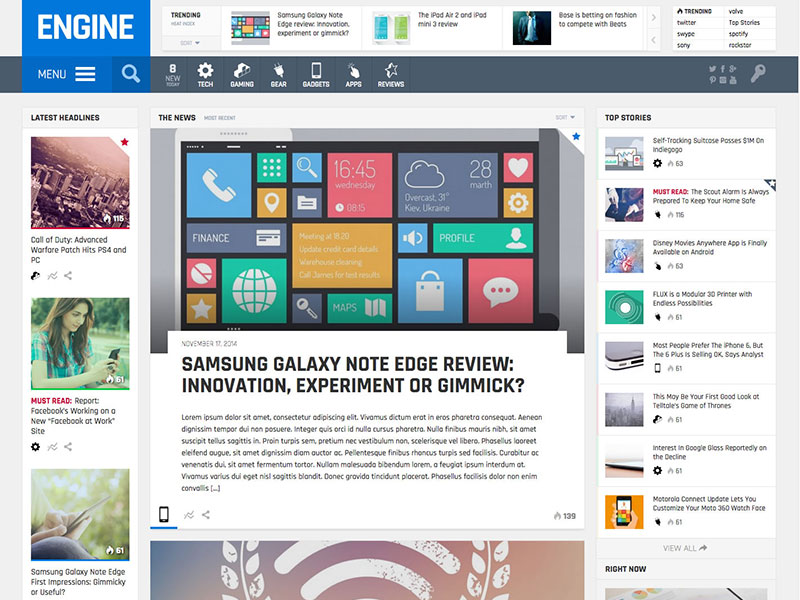 engine-magazine-theme