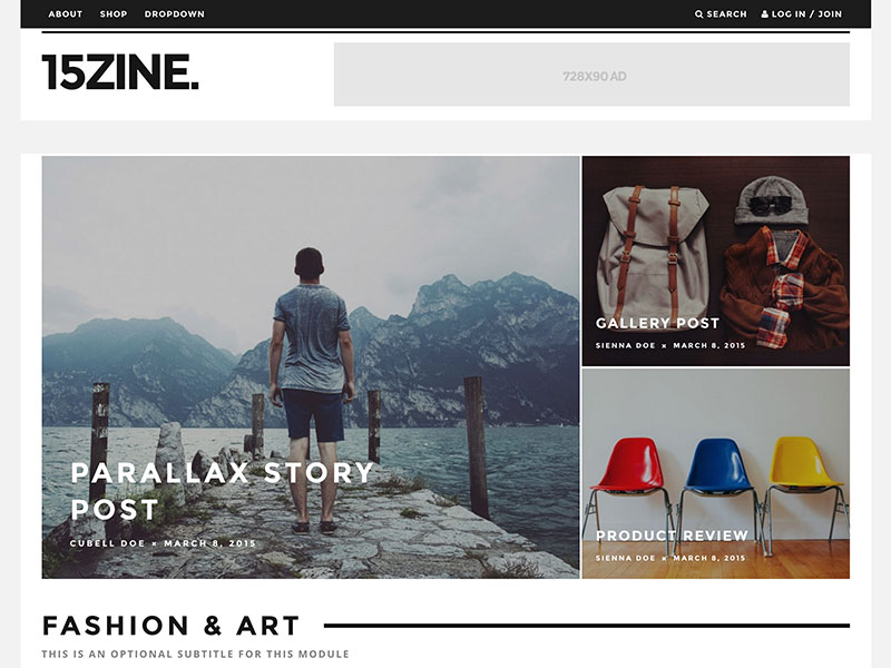 15zine-wordpress-magazine-theme