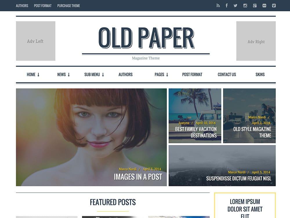 oldpaper-magazine-theme