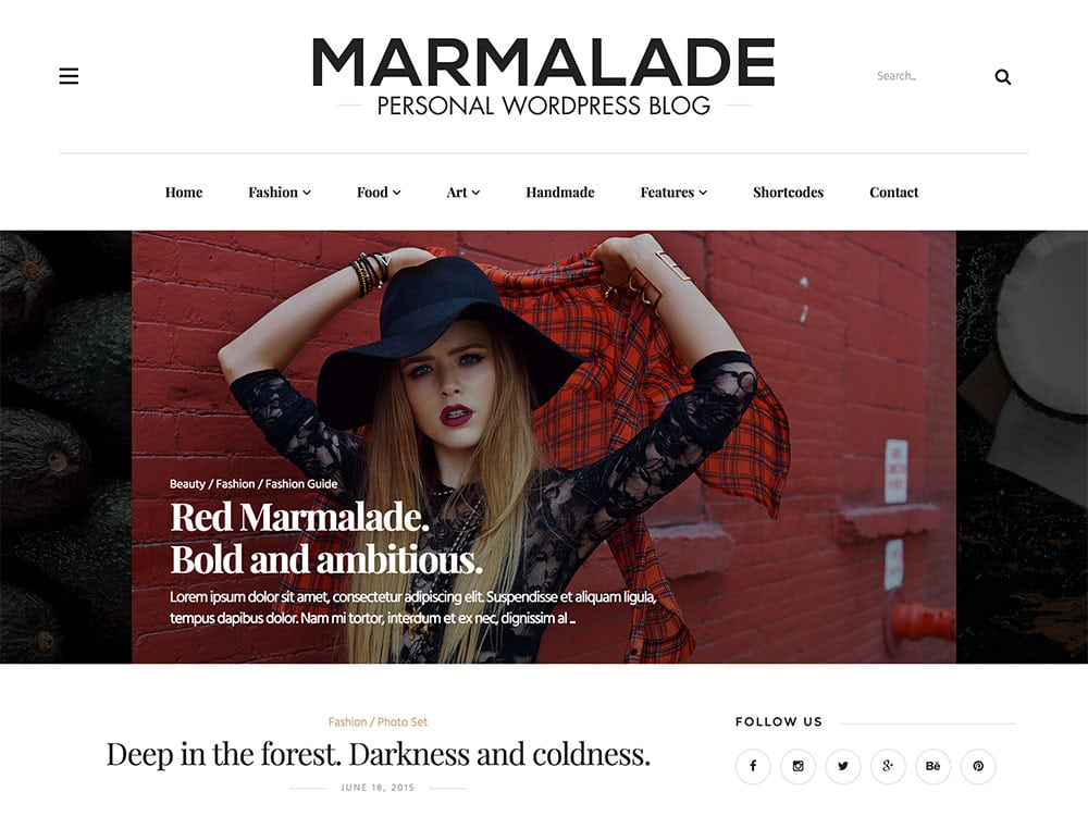 marmalade-personal-wordpress-blog-theme