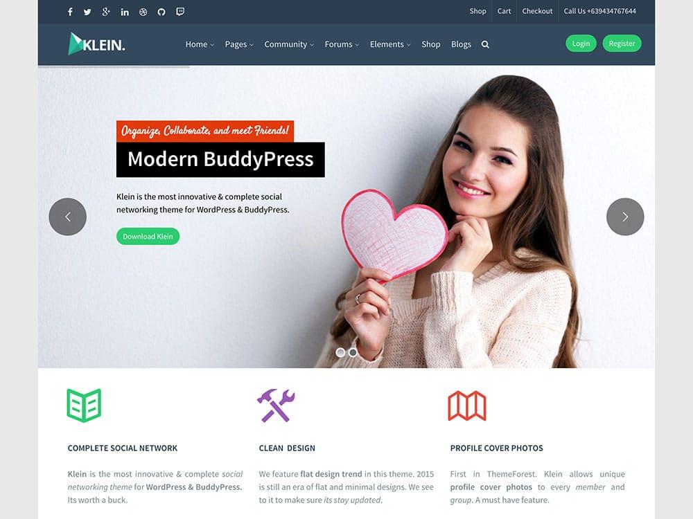 klein-social-networking-buddypress-theme