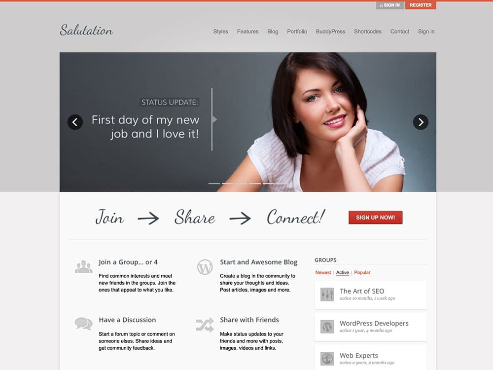 Salutation-WordPress-BuddyPress-Theme
