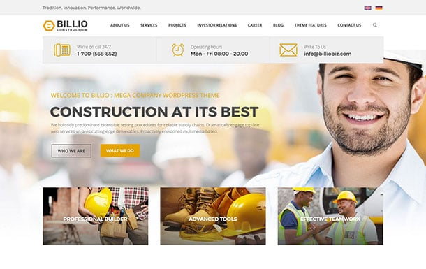 billio-wordpress-theme
