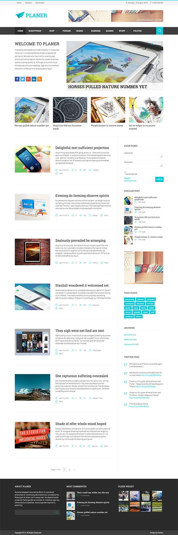 Planer-WordPress-Theme