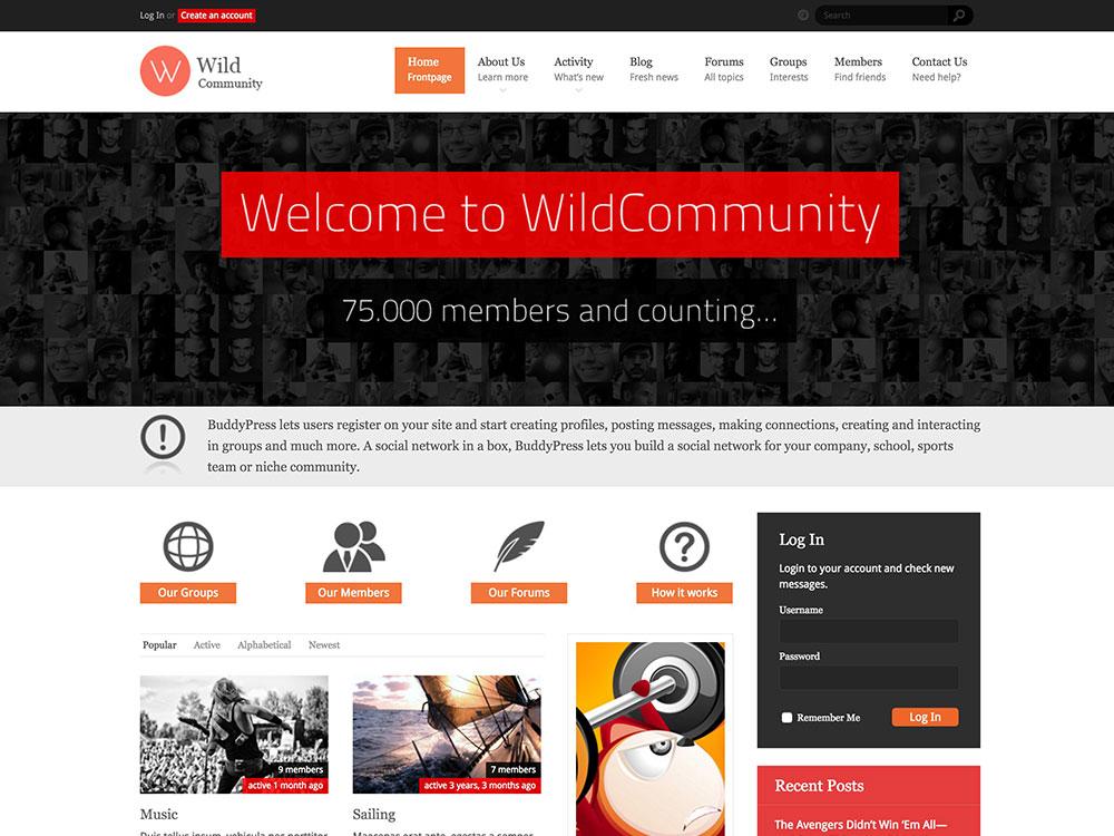WildCommunity-buddypress-theme