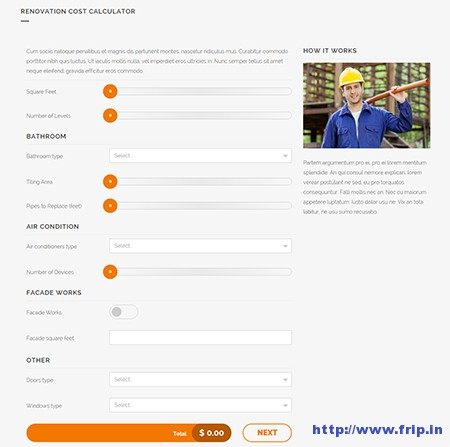 Cost-Calculator-WordPress-Plugin