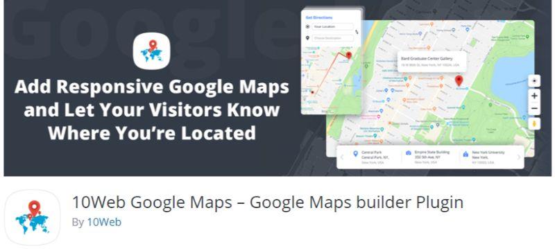 10Web Google Maps plugin