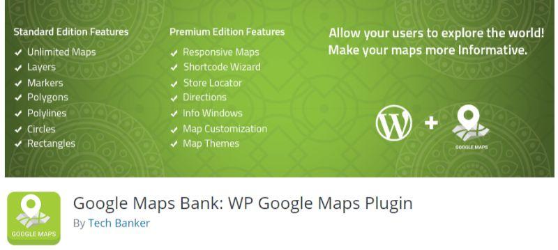 Google Maps Bank WP Google Maps Plugin