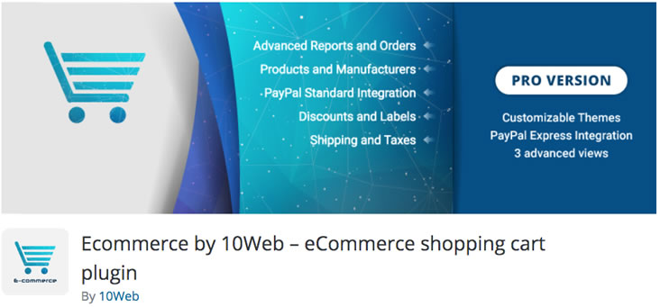 Ecommerce by 10Web - PayPal plugin