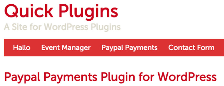 Quick PayPal Payments plugin
