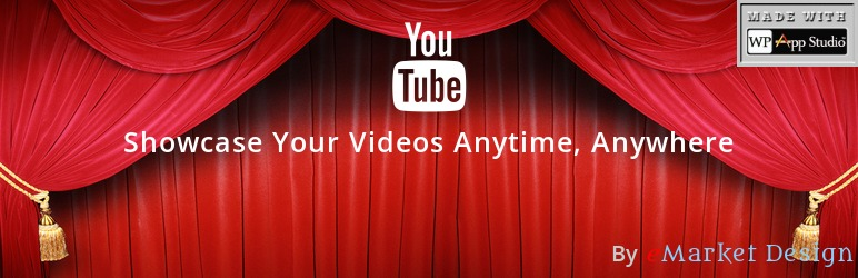 YouTube Showcase Video Gallery Free Plugin