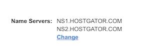 Change Name Servers