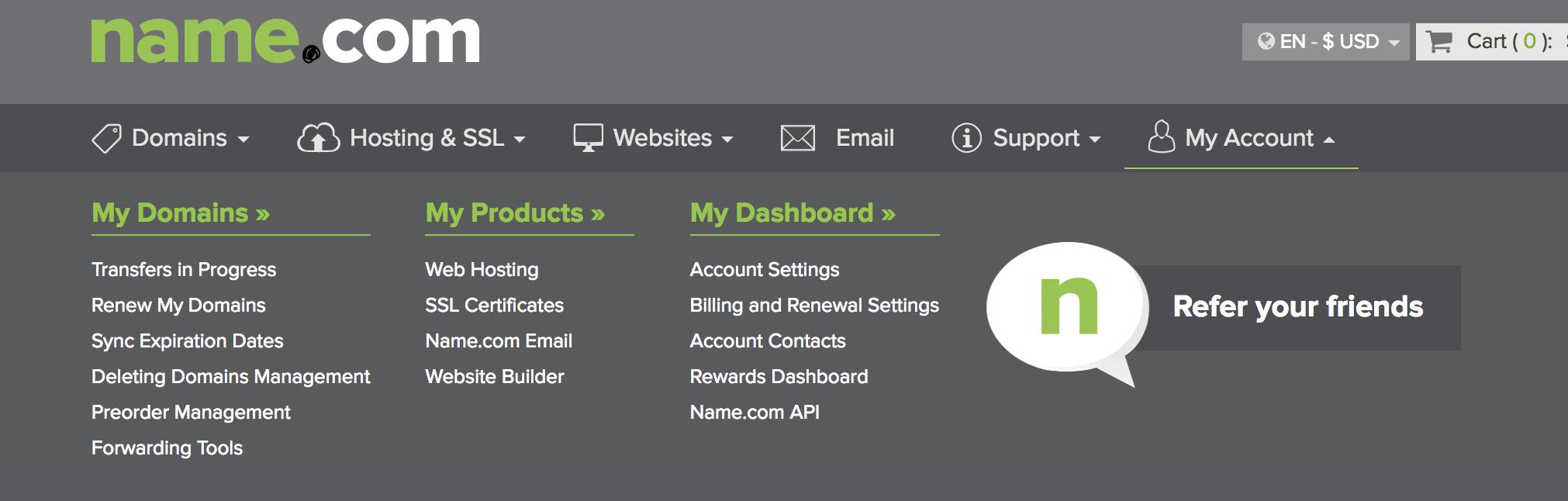Domain Dashboard