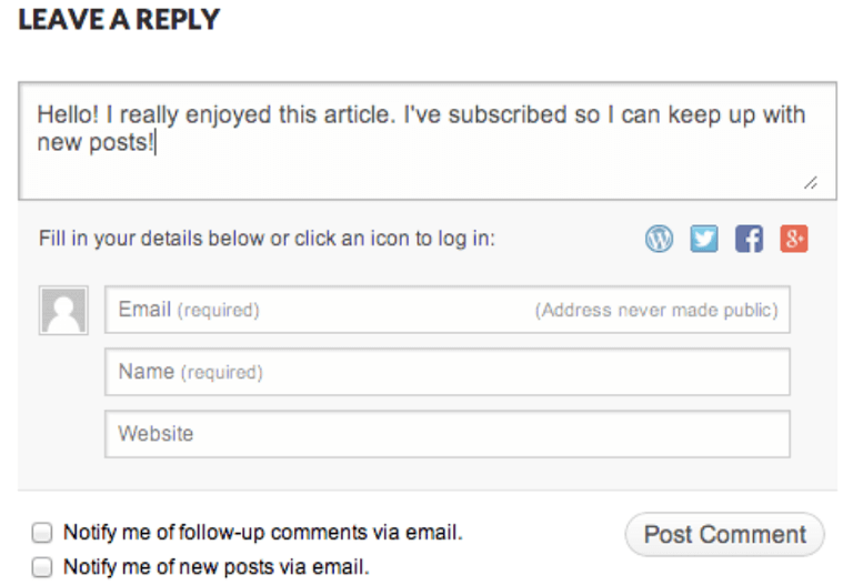 jetpack comment example