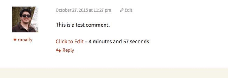 simple comment editing example