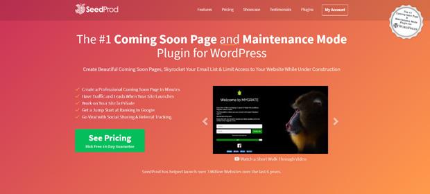 SeedProd Best Coming Soon and Maintenance Mode WordPress Plugin