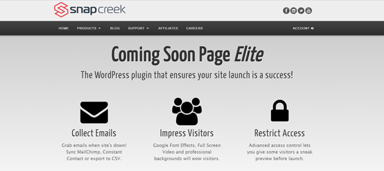 Coming Soon Page Elite Plugin