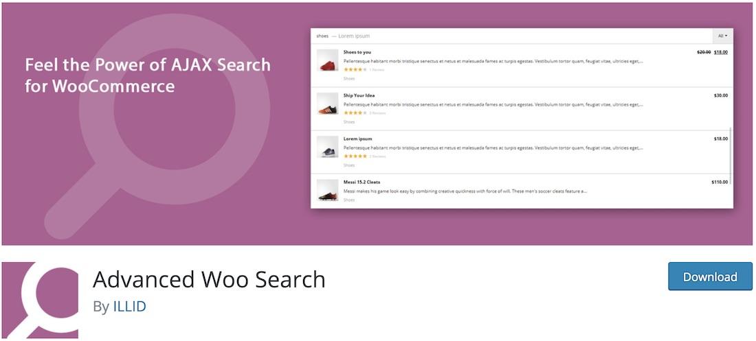 advanced woo search wordpress plugin