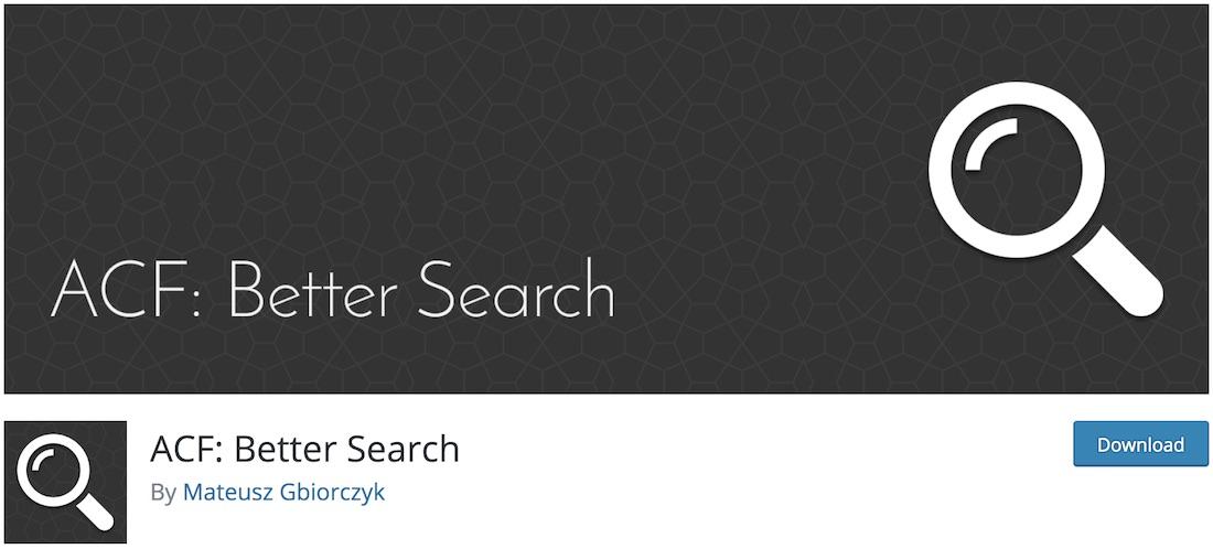 acf better search wordpress plugin