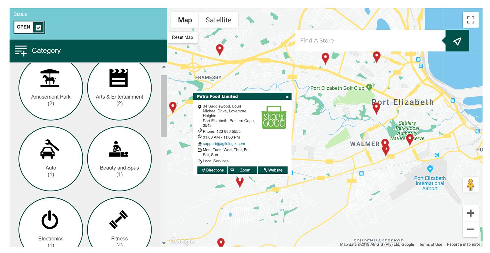 Agile Store Locator Map