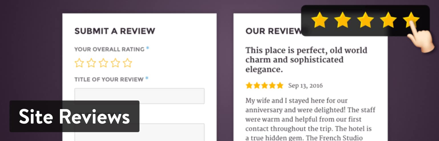 Best WordPress Review Plugins: Site Reviews