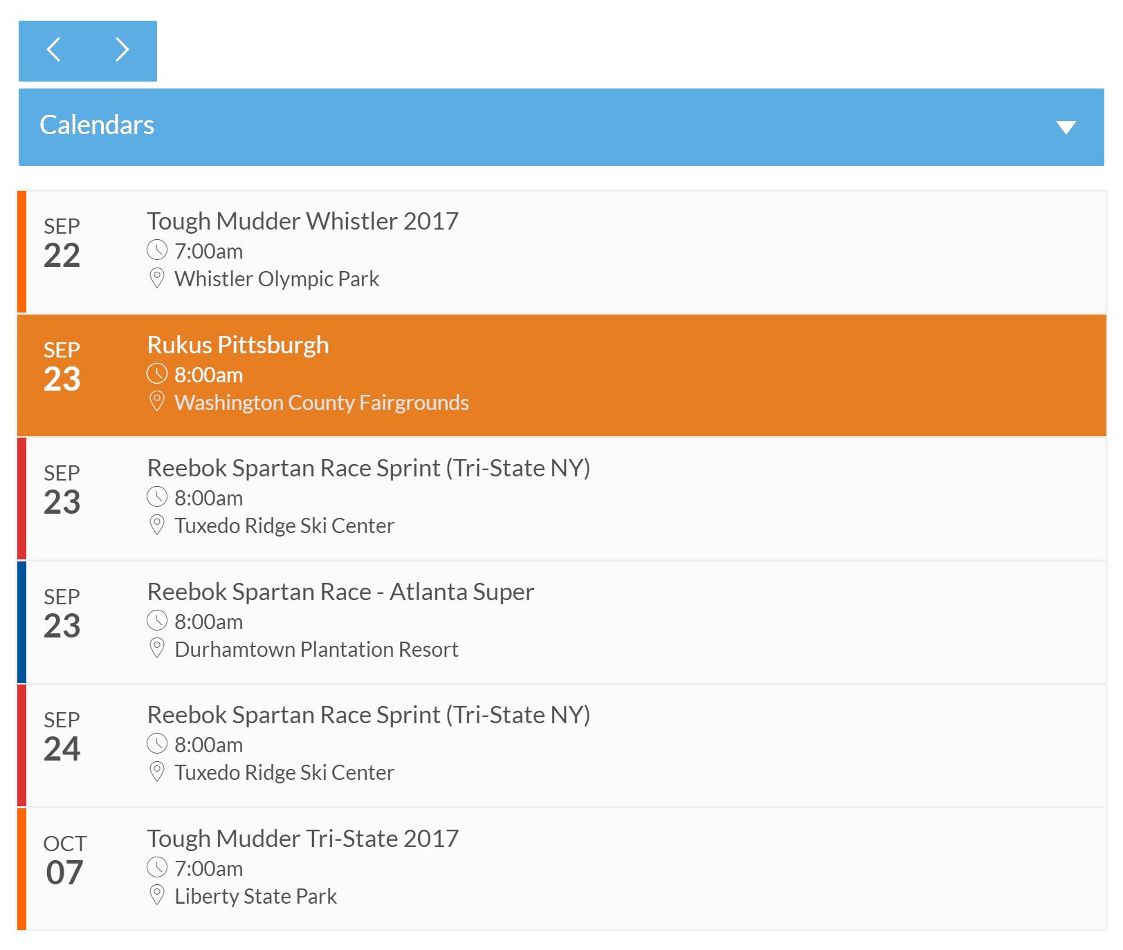 Accordion Schedule View