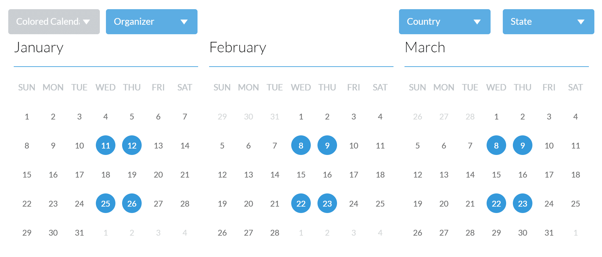 Calendar Year View