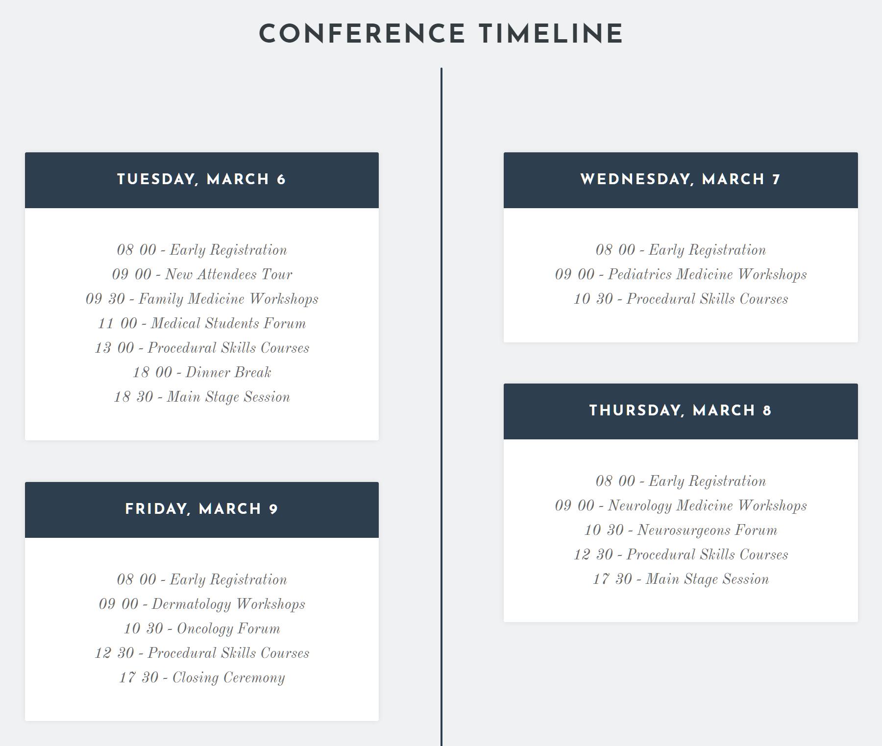 Conference Timeline