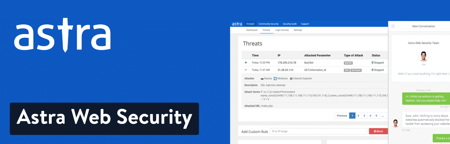 Astra Web Security for WordPress