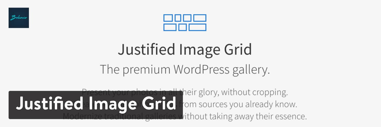 Justified Image Grid WordPress plugin