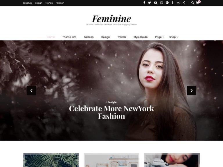 The Blossom Feminine theme.