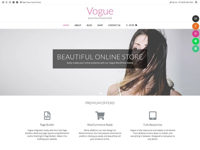 The Vogue theme.